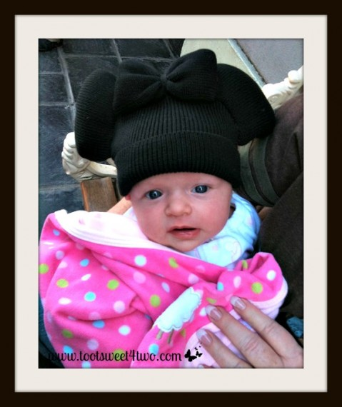 Princess Sweetie Pie earned her first unofficial mouse ears at 6 weeks old!