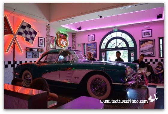 Corvette inside the Corvette Diner