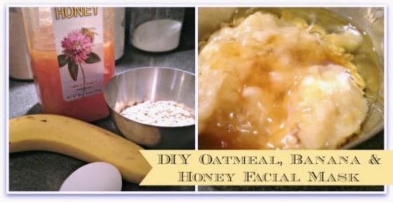 Diy facial mask with oatmeal banana honey toot sweet 4 two diy oatmeal banana honey facial mask cover solutioingenieria Image collections