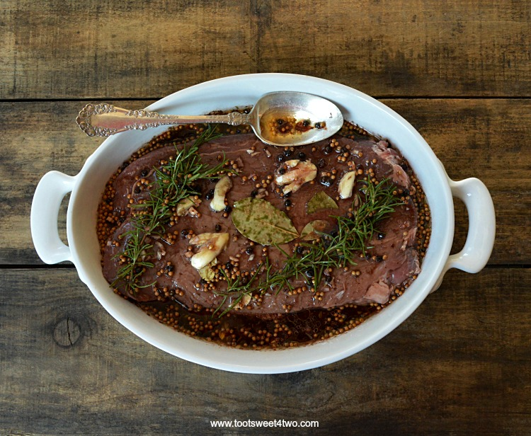 Let's face it: beef is expensive! With the cost of premium beef cuts today, buying a rib-eye steak or rib-eye roast will leave a gaping hole in your grocery budget! This easy red wine marinade for beef is perfect for London Broil and other tough cuts of beef, such as skirt steak, top round, bottom round, tri-tip or flat steak. And, since one of the secrets to a delicious flank steak, aka London Broil, is the marinade, this Easy Red Wine Marinade for Beef recipe is an exceptionally delicious way to infuse an otherwise tough cut of meat with great flavor!