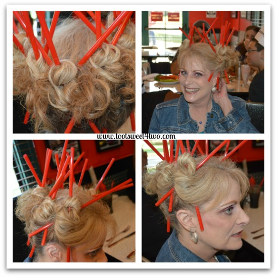 Gail's Straw Hair-do at the Corvette Diner
