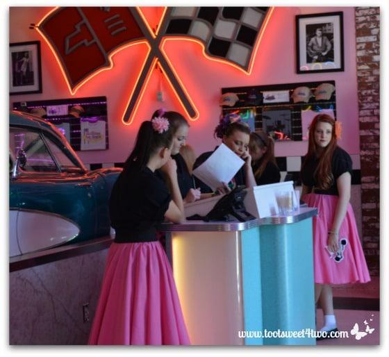 Hostesses at the Corvette Diner