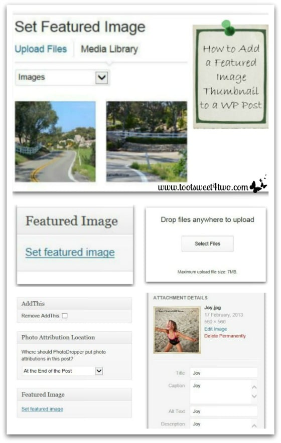How to Add a Featured Image Thumbnail to a WP Post Pinterest