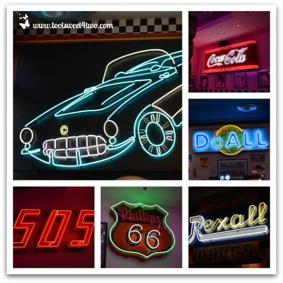 Neon Lights at Corvette Diner