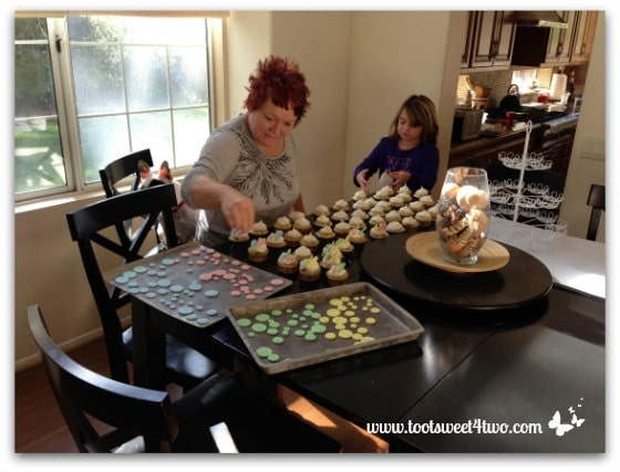 Patti and fondant buttons