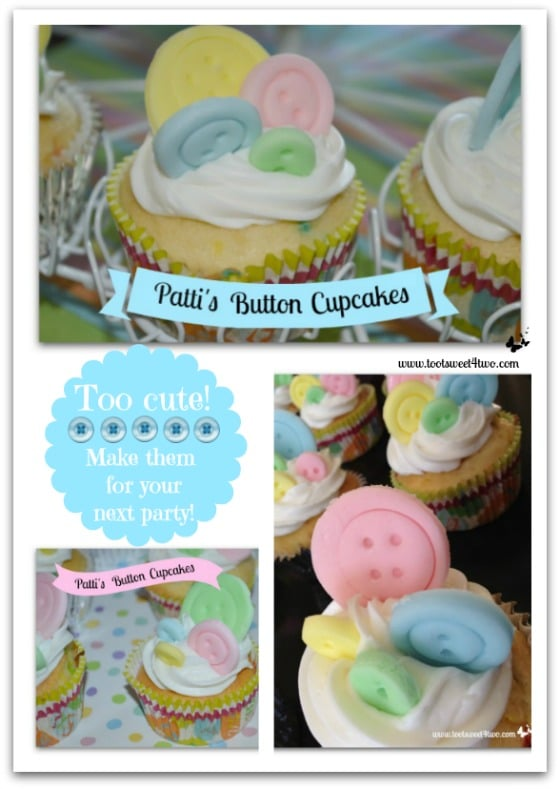 Patti's Button Cupcakes Pinterest