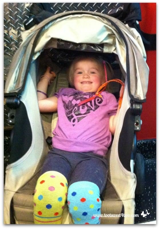 Princess Sweetie Pie happy at the Corvette Diner