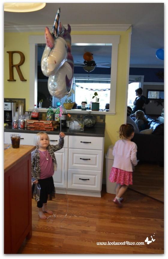 Princess Sweetie Pie with a unicorn balloon