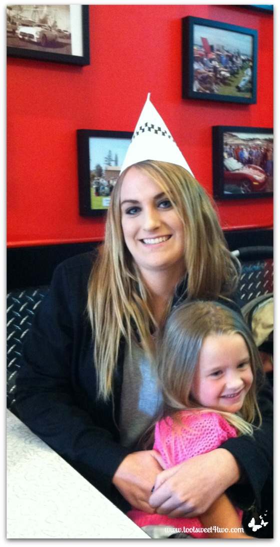 Samantha and Princess P at the Corvette Diner