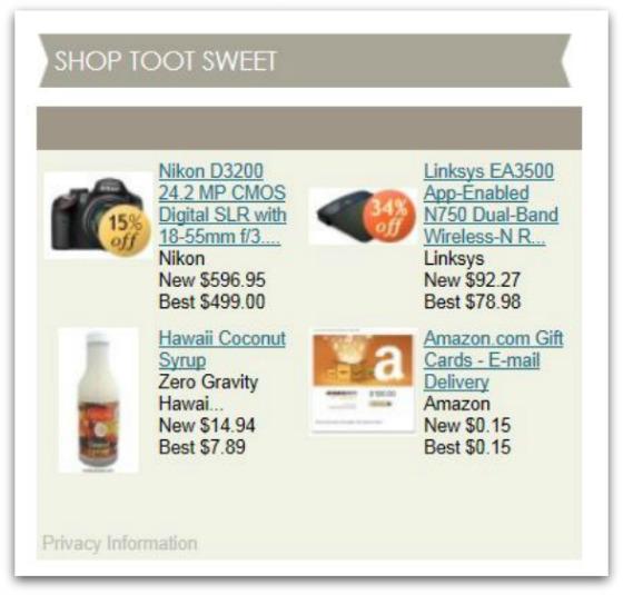 Shop Toot Sweet Widget