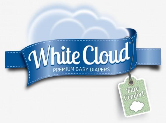 wal-mart white cloud diaper logo