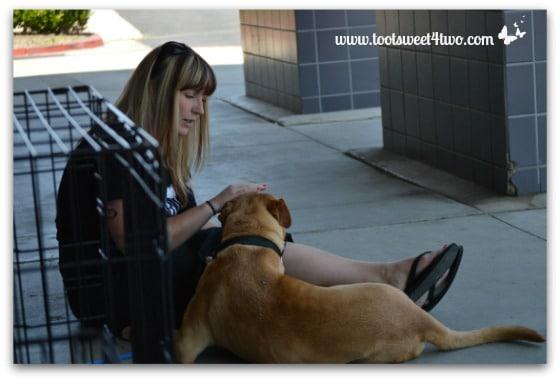 Christin and Adoption Dog