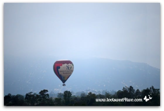South Coast Winery Hot Air Balloon ascending
