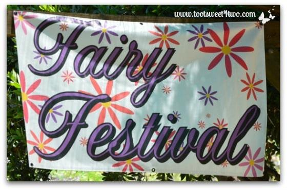 Fairy Festival sign