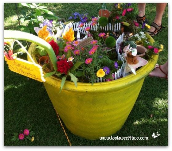 Fairy Garden in Yellow Pot