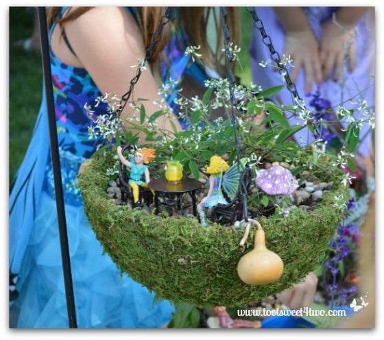 Fairy garden in a hanging basket toot sweet 4 two fairy garden in a hanging basket workwithnaturefo