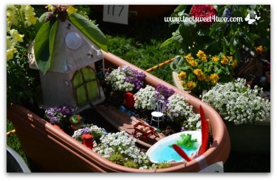 Fairy Garden in a Plastic Trough Planter
