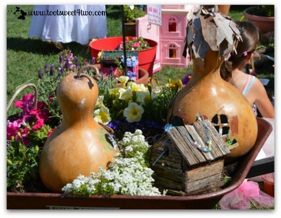Fairy Garden with Gourd Houses