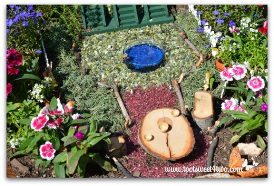 Fairy Garden with Tree Stump Furniture
