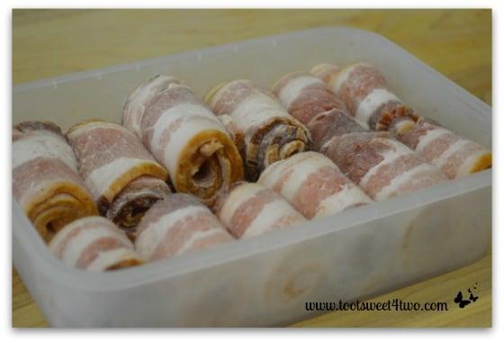 Frozen bacon rolls