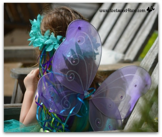 Lavender Fairy Wings and Aqua Fairy Crown