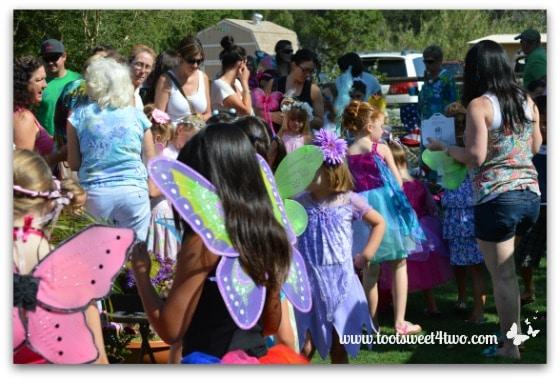 Mad dash of fairies viewing fairy gardens