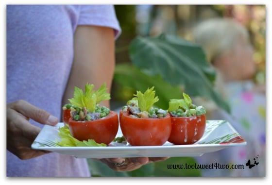 Pea Salad at picnic
