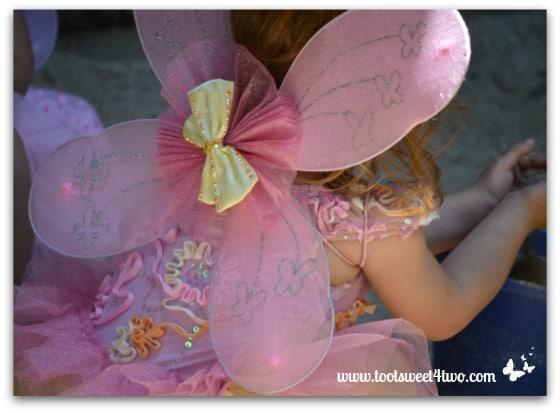 Pink Fairy Wings with Yellow Bow
