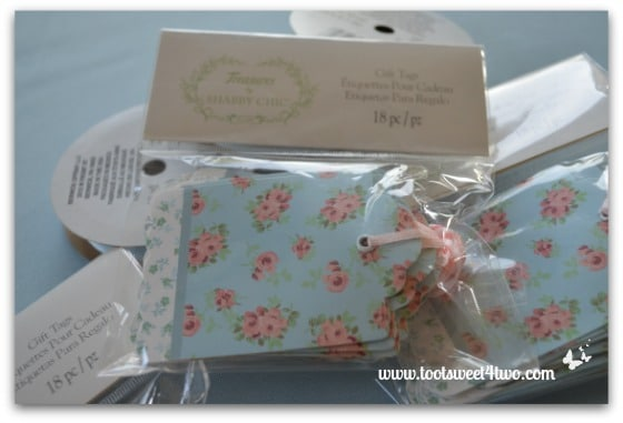Cute and Easy Party Name Tags - gifts tags in packages