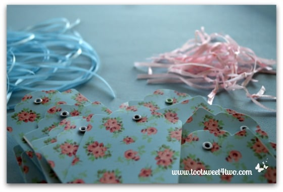 Cute and Easy Party Name Tags - pink ribbon removed
