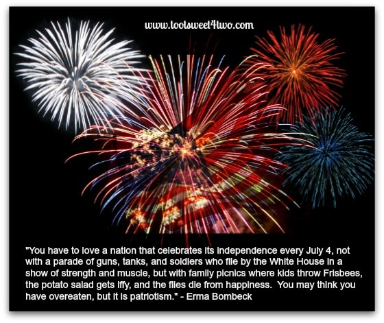 July 4th Erma Bombeck quote