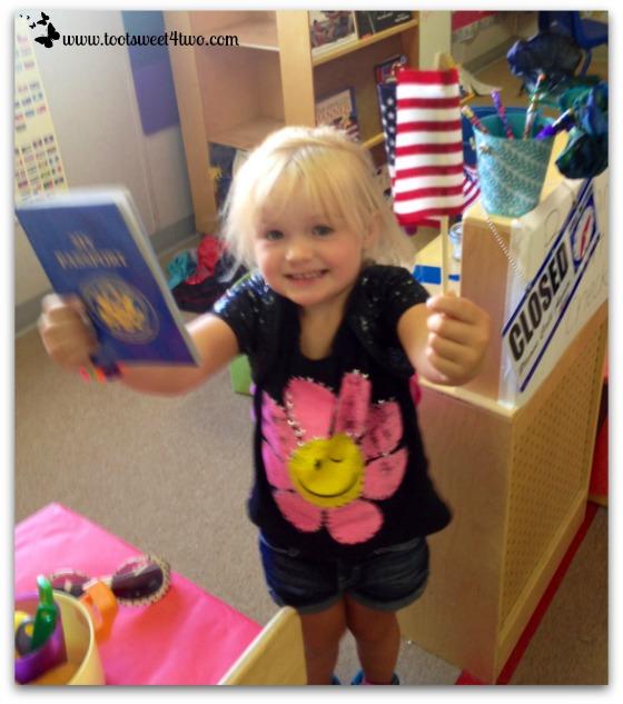 Princess Sweetie Pie showing Mommy her passport