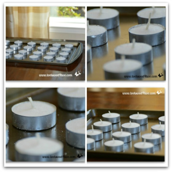 Tea Lights of cookie sheet collage