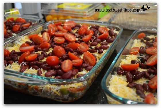 Add tomatoes - Charlie's Lite Layered Mexican Casserole