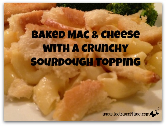 Baked Mac & Cheese with a Crunchy Sourdough Topping