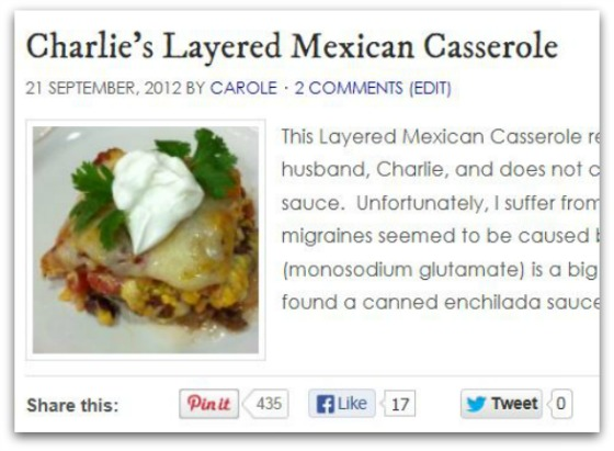 Charlie's Layered Mexican Casserole Pinterest Pins