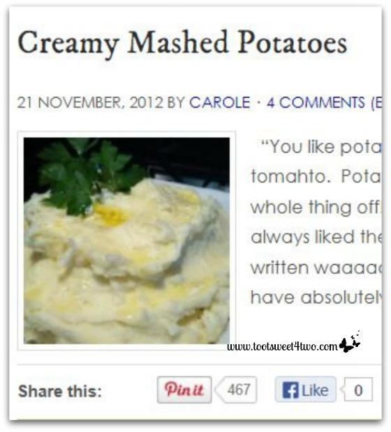 Creamy Mashed Potatoes Pinterest Pins