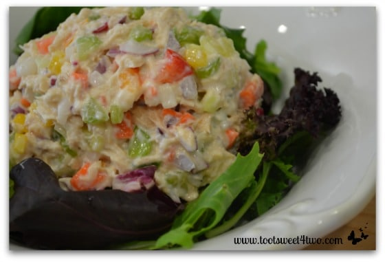 Crunchy Tuna Salad close-up