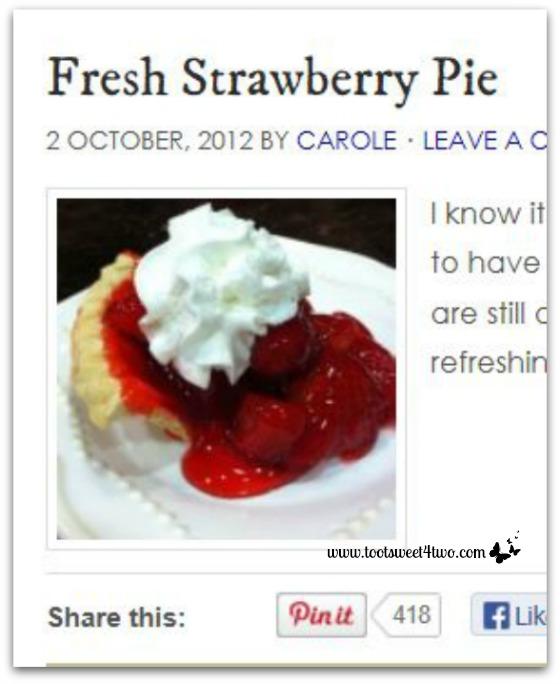 Fresh Strawberry Pie Pinterest Pins