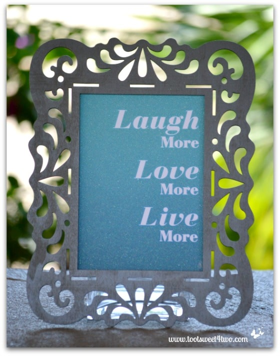 Laugh Love Live card in finished frame