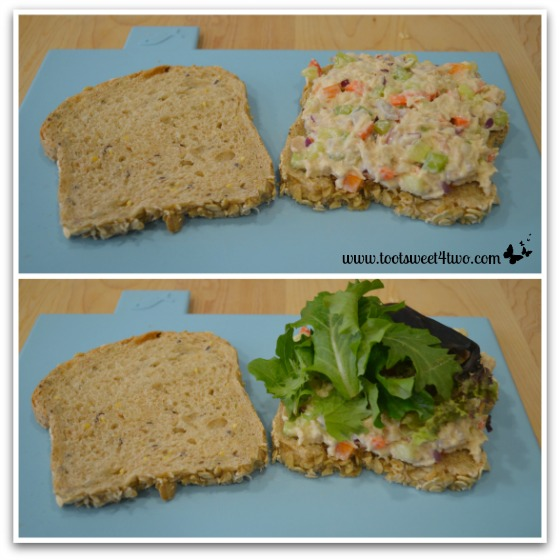 Make a Crunchy Tuna Salad Sandwich with delicious, nutty bread