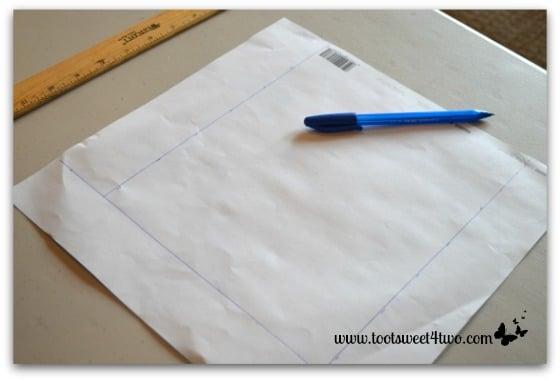 Measure scrapbook paper