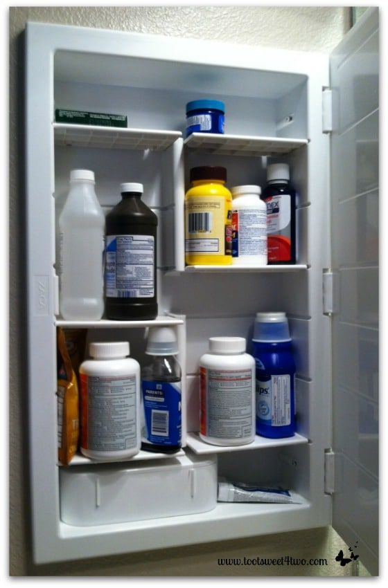 Medicine cabinet with expired contents