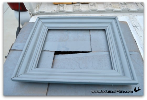Old picture frame painted gray
