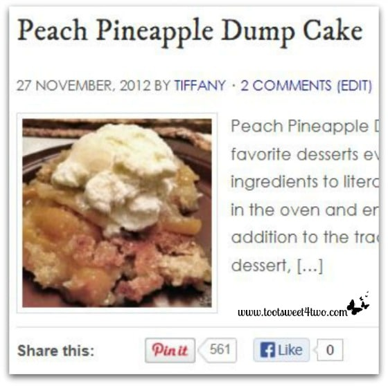 Peach Pineapple Dump Cake Pinterest Pins