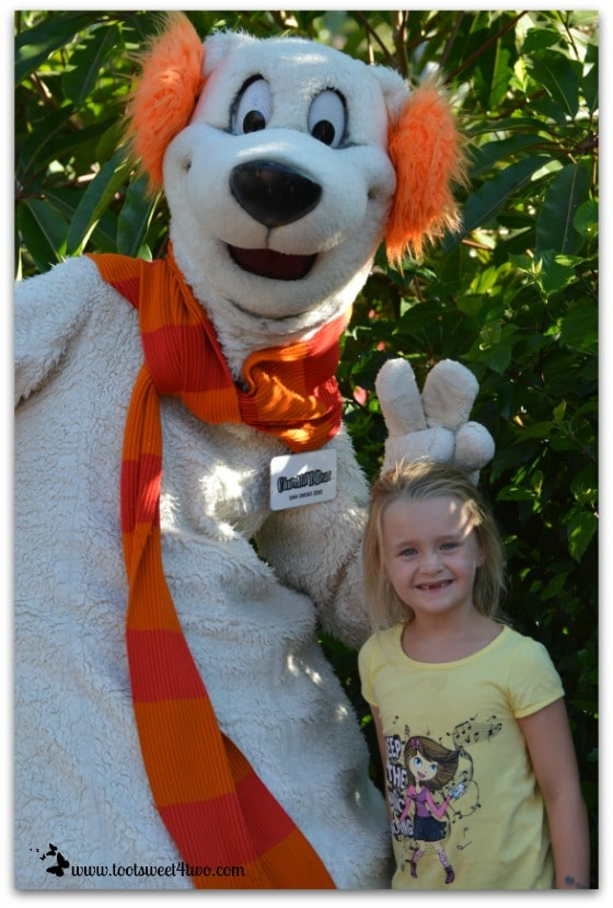 Princess P with Churchill P. Bear at the San Diego Zoo