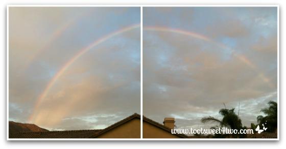Rainbow diptych