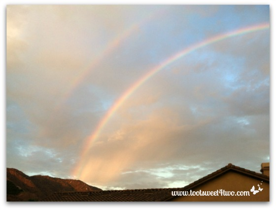 Rainbow from the north over our house