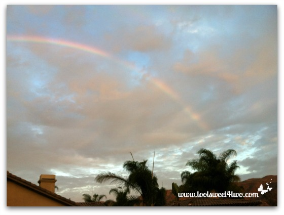 Rainbow from the south over our house