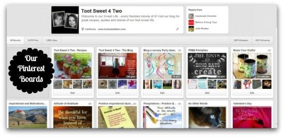 TS4T Pinterest Boards